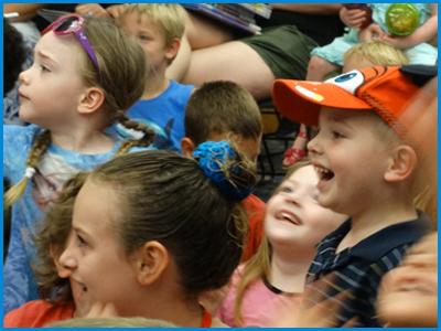 Preschool Children Having Fun at Educational Show in orlando central florida