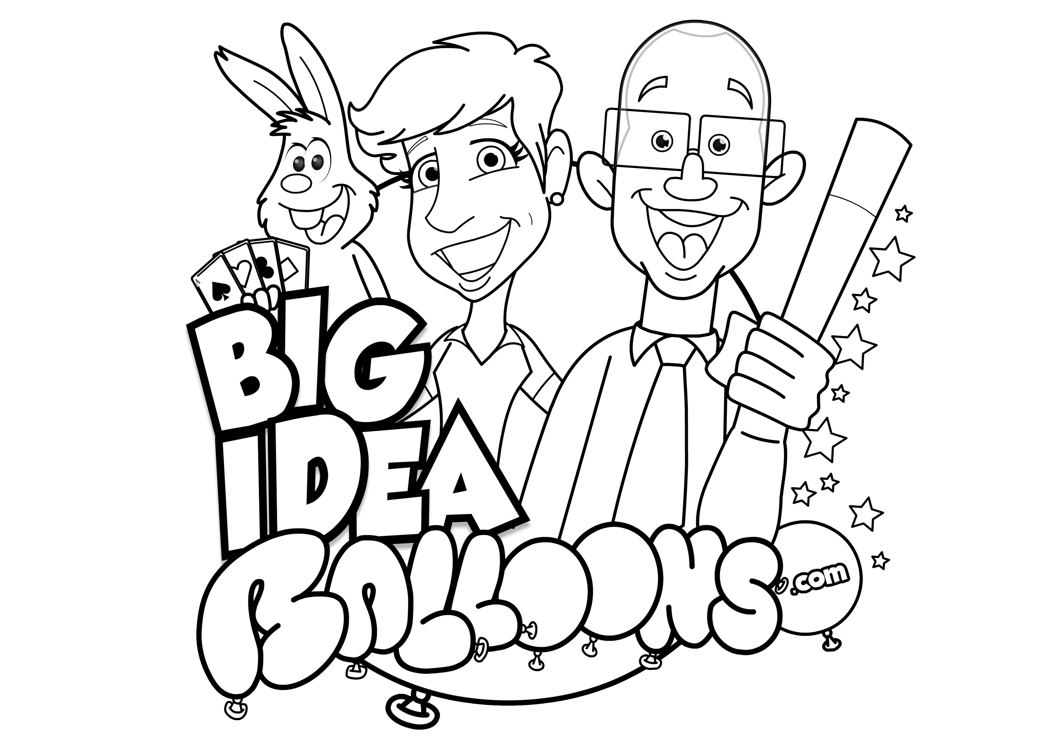 Big Ideas A4 colouring sheet